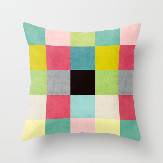 color block II Throw Pillow