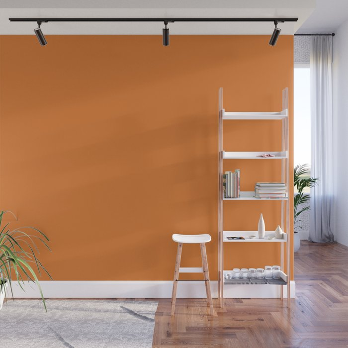 Russet Orange | Pantone Fashion Color | Fall : Winter 2018 | New York and London | Solid Color | Wall Mural