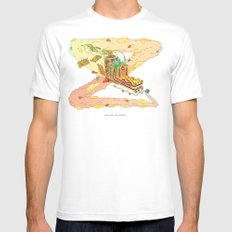 The Lotus Eater. MEDIUM White Mens Fitted Tee