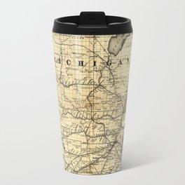 Vintage Michigan, Ohio and Indiana Railroad Map Travel Mug