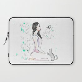 Yoga with her Cat Laptop Sleeve