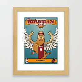 The Birdman Trading Card Framed Art Print