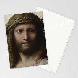 Antonio da Correggio - Head of Christ Stationery Cards