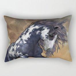 Storm, wild horse, fantasy Rectangular Pillow