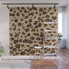 Pixelated Leopard Wall Mural