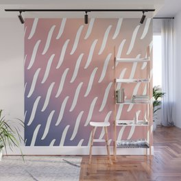 Pastel Pink and purple twist pattern Wall Mural