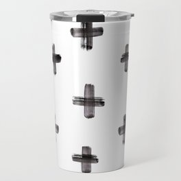 plus sign pattern Travel Mug