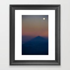 The Mountain Shadow Framed Art Print