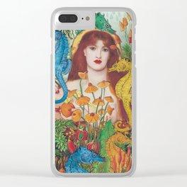 Seahorse Garden Clear iPhone Case
