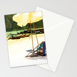 Sandy beaches Stationery Cards