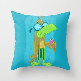 Wallflower Bird! Throw Pillow