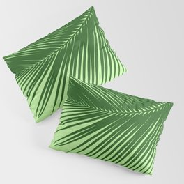 Large Palm Leaf, Emerald and Lime Green Pillow Sham