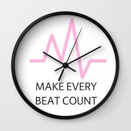Heart Beat Pink Wall Clock