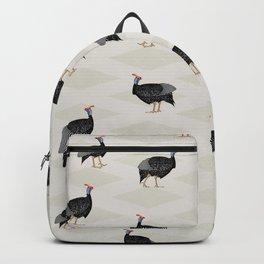 Guinea fowl bird pattern Backpack