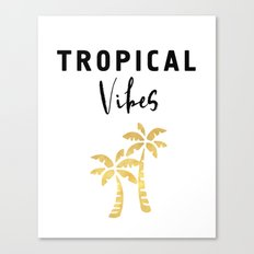 TROPICAL VIBES - Palm Trees and Beaches Canvas Print