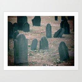 Spooky Little Graveyard Art Print