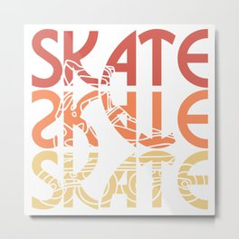 roller skates inline  gift idea scooters sport Metal Print