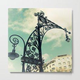 Iron Lamp Metal Print