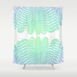 TRIBAL FEATHERS - SEAFOAM Shower Curtain
