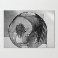 ying yang Canvas Prints featuring Ying Yang by MarianneVidal