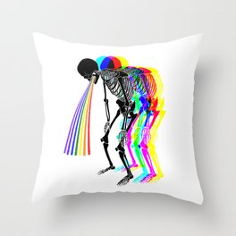 Super Rainbow Throw Pillow