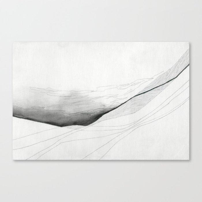 Cloud Slips Landscape Drawing Canvas Print