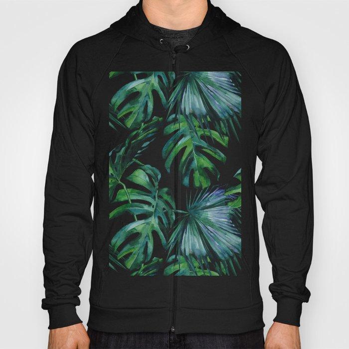 Tropical Palm Leaves Classic Hoody