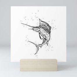 Rage of a Sailfish Mini Art Print