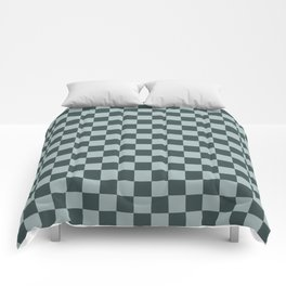 Checkerboard Pattern Inspired By Night Watch PPG1145-7 & Blue Willow Green PPG1145-4 Comforters