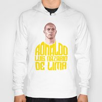 ronaldo Hoodies featuring Ronaldo Name Yellow by Sport_Designs