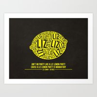 30 rock Art Prints featuring 30 rock - liz lemon by lissalaine
