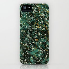 Winter Themed Green Pattern iPhone Case