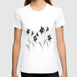 Schwarze Lilien T-shirt