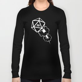 D20 Dice Explosion Slaying Dragons in Dungeons DnD Tabletop RPG Long Sleeve T-shirt