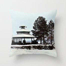 Gazebo on the Lake Throw Pillow