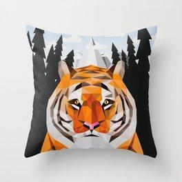 The Siberian Tiger Throw Pillow