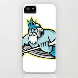 Poseidon Ice Hockey Sports Mascot iPhone Case