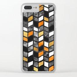 Fall Herringbone Clear iPhone Case