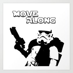 Move Along Art Print