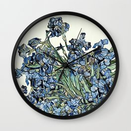 Play with Vincent's Irises Wall Clock