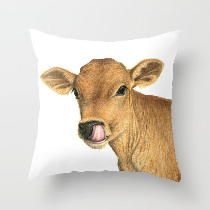 Jersey Calf Throw Pillow