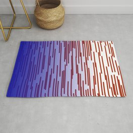 design lines blue with pink Rug