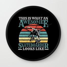 Skater Skateboard awesome Skateboarder Wall Clock