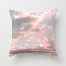Delicate Sky Throw Pillow