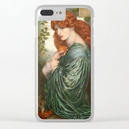 Dante Gabriel Rossetti, Proserpine, 1874 Clear iPhone Case