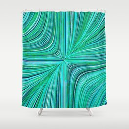 Electric Field Art XXXI Art Shower Curtain
