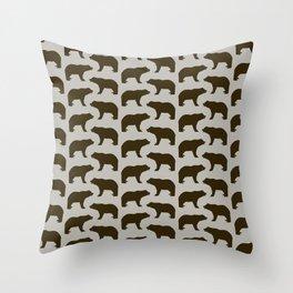 Bear Pattern Throw Pillow
