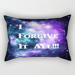 Teal Violet Galaxy : I Forgive It All Rectangular Pillow