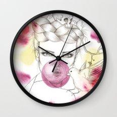 Bubble Birdie Wall Clock