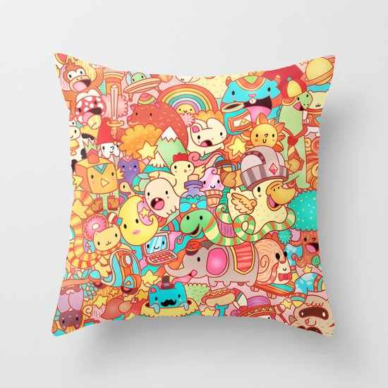 Wackoblast! Throw Pillow